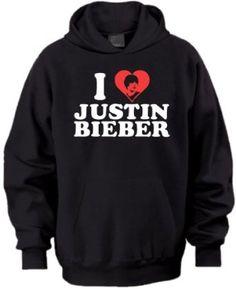 I Love Justin Bieber Hoodie