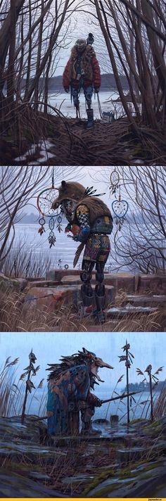 Simon Stålenhag,арт,красивые картинки,Мрачные картинки,роботы,шаманы,длиннопост,в коментах еще