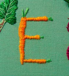 Embroidered Typography by Jessica Dance – Inspiration Grid | Design Inspiration