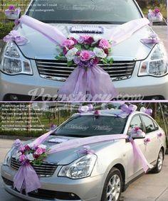 Groupe de décorations de voiture de mariage (PZS042) -