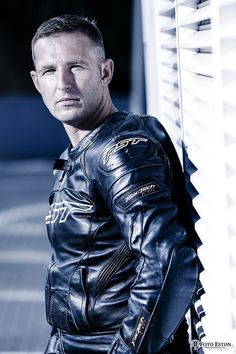 Leather Men, Leather Jacket, Bike Leathers, Biker Gear, Motorcycle Leather, What I Wore, Hot Guys, Tights, Mens Fashion