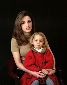 ♔♛Queen Rania of Jordan♔♛.. and Princess Iman...Early years