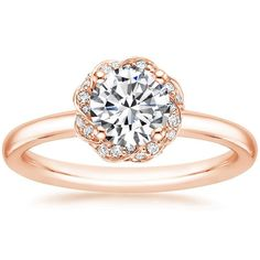 14K Rose Gold Corinna Diamond Ring from Brilliant Earth