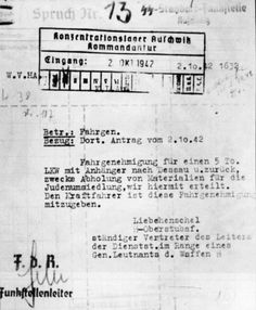 Authorization to transport materials for the extermination