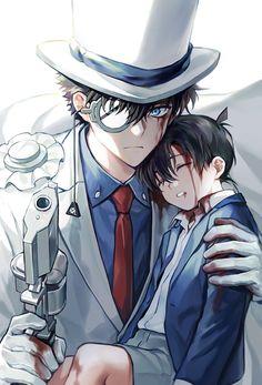 """해7💙하니💙 on Twitter: """"...… """" Magic Kaito, Anime People, Anime Guys, Detective Conan Shinichi, Konan, Anime Boy Zeichnung, Kaito Kuroba, Maou Sama, Detektif Conan"""