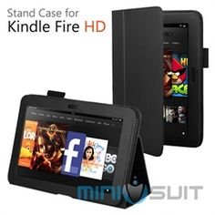 "MiniSuit's newest addition to the Classic series is for the Amazon Kindle Fire HD 7"" touchscreen tablet. This MiniSuit Classic Case cover is a combination of two unique features. First, as a case: Sturdy, compact book-style case with gentle hidden m"