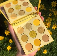 yellow eyeshadow palette - Makeup Looks Yellow Eye Candy Makeup, Makeup Geek, Colourpop Cosmetics, Makeup Cosmetics, Red Glitter, Pretty Makeup, Makeup Looks, Makeup Stuff, Yellow Eyeshadow Palette