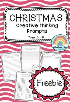Free Download - Included in this Christmas themed pack are three creative thinking tasks to spark students creativity. Three activity sheets have been provided, or use the tasks cards and allow students to record their answers using their own methods. Suitable for Year 3 - 6 ~ Rainbow Sky Creations ~