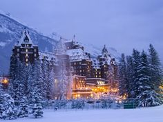 The 'Banff Springs Hotel' in Banff, AB Canada.  This is where Marilyn Monroe stayed in 1953.  The hotel is so beautiful.  It's a museum all in itself.