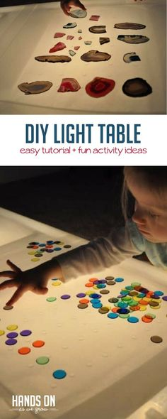 Learn how to make a super simple DIY light table with this tutorial. Your preschooler will love playing with shapes, colors, and more!