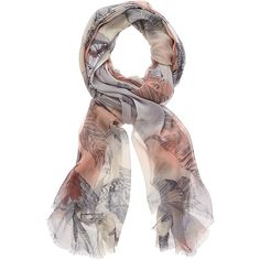 Feather Watercolour Scarf ($50) found on Polyvore