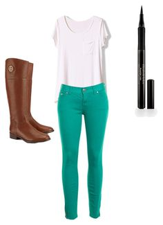 """""""Untitled #63"""" by kaypielarre on Polyvore featuring Free People, Tory Burch and Elizabeth Arden"""