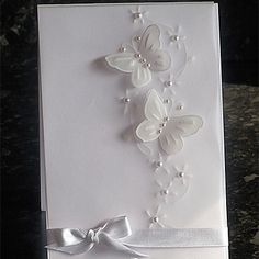 White Vellum Butterfly Card