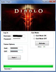 Diablo 3 Hack and Keygen Download