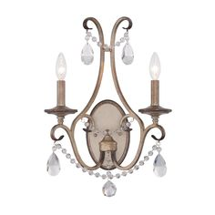 Designers Fountain 86002-ARS Gala 1 Light Wall Sconce in Argent Silver