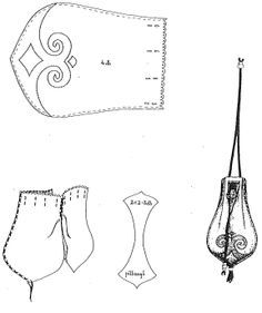leather drawstring pouch pattern - Google Search
