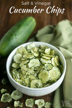 Easy salt and vinegar baked cucumber chips recipe