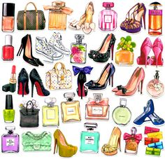 35pcs Self-made High Heel Shoes Perfume Bottle Scrapbooking Stickers Decorative Sticker DIY Craft Photo Albums Decals Diary Deco
