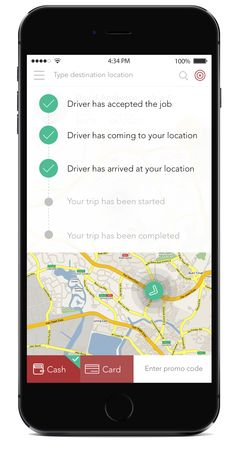 uber car booking app