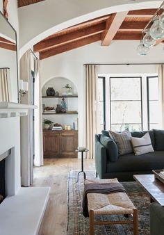 The full before and after reveal of Client What's The Story Spanish Glory, a Spanish-style home in California designed by Amber Lewis of Amber Interiors. Spanish Style Decor, Spanish Style Homes, Spanish Style Interiors, Spanish Revival, Spanish Colonial, My Living Room, Home And Living, Living Spaces, Living Room Inspiration