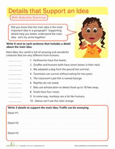 math worksheet : main idea and supporting details 3rd  5th grade worksheet  : Main Idea Worksheets Multiple Choice