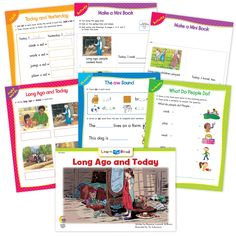 Long Ago And Today Ebook & Worksheets – Creative Teaching Press Sight Word Sentences, Vocabulary Words, Math Minutes, Learn To Read Books, Nouns And Pronouns, Creative Teaching Press, Spelling Patterns, Compound Words, Emergent Readers