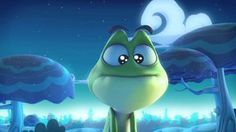 French video - frog invents his own fairy tale. The tale gets crazier and crazier (and a little violent) as the story progresses.  Funny, but a little over the top for at school.