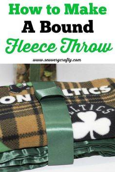 This is a terrific little tutorial on how to make a bound fleece throw easily and inexpensively using remnant fabric and blanket binding. This tutorial walks you step-by-step through the process of binding your throw or blanket so that it looks just like Diy Sewing Projects, Craft Tutorials, Sewing Hacks, Sewing Tutorials, Sewing Patterns, Fleece Projects, Beginners Sewing, Sewing Ideas, Quilt Patterns
