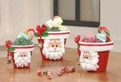 Resultado de imagen de adornos de navidad hechos en porcelana fria