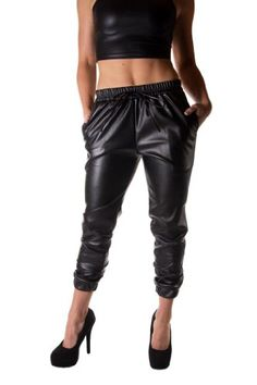Goodtime Women's Heavy Faux Leather Jogger Pant