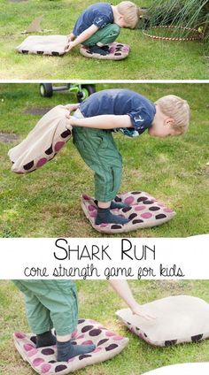 Shark Run Core Strength Game for Kids