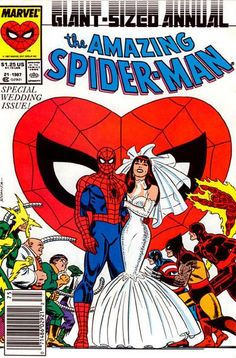 The Amazing Spider-Man Annual #21 cover art by John Romita  Because One More Day is the worst.
