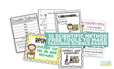 How to teach science using 10 scientific method tools may just make your teaching life easier. You& have scientific method steps free printables, scientific method for kids videos and a scientific method worksheet 1st Grade Science, Teaching First Grade, Elementary Science, Middle School Science, Science Classroom, Classroom Ideas, Science Writing, Teaching Science, Science For Kids