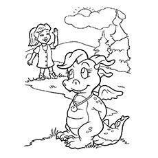 A Dragon Tales Coloring Sun