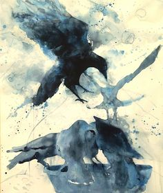 Line of Flight by Sarah Yeoman Watercolor ~ 30 x 22