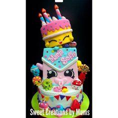 Now *that* is a birthday cake!! #Repost @sweetcreationsbymums ・・・ Shopkins themed cake #sweetcreationsbymums #shopkins #edible #foodporn #fondantcake #foodphotography #cake #birthdayparty #cakeforgirls