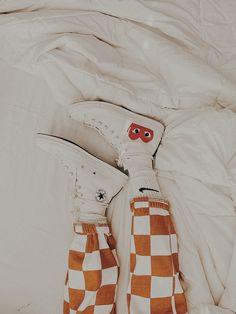 comme de garcons x chuck taylor's w/ the wild checker pants Blackwork, Cute Shoes, Me Too Shoes, Chuck Taylors, Checker Pants, Street Fashion, Mens Fashion, Fashion Killa, Vsco