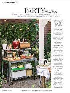"""""""Party Station"""" from Better Homes and Gardens, June 2017. Read it on the Texture app-unlimited access to 200+ top magazines."""