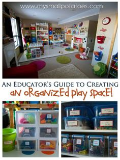 An amazing play space over at Small Potatoes - I love all these tips and ideas for organizing toys and resources..