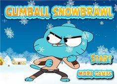 لعبة غامبول شجار الثلج لعبة حلوة من العاب اطفال  Kids Games الرائعة جداً علي العاب فلاش ميزو