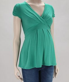 Take a look at this Emerald Jill Maternity Top by Pietro Brunelli on #zulily today!