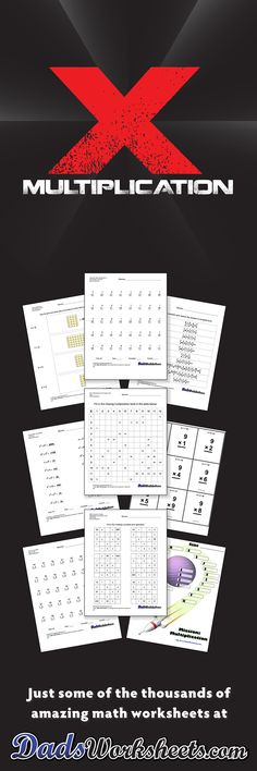 Printable Multiplication Worksheets with Answer Keys! Multiplication Facts and Multi-Digit Problems! Free Printable Multiplication Worksheets, Multiplication Tables, Multiplication Practice, School Worksheets, Math Resources, Math Activities, Teacher Freebies, Teaching Math, Maths