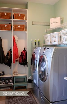 our house: the laundry room/mudroom @ ordinarymom.ca