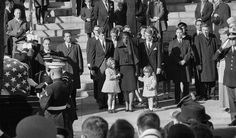 11/25/63: The Kennedy family after the funeral service at St. Matthews Cathedral.