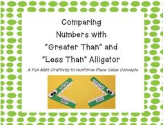 Supplement your unit and lessons on comparing numbers with this ...