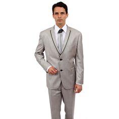 Tazio Men's Slim Fit Rayon/ 2-button Suit