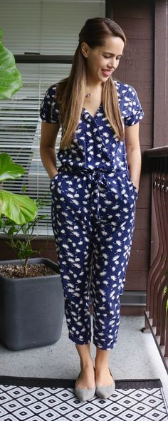 Jules in Flats - Old Navy Patterned Jumpsuit