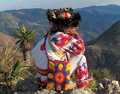 Huichol - for more of Mexico visit www. Mexican Costume, Yarn Painting, Hispanic Culture, Mexicans, We Are The World, Neon Genesis Evangelion, Mexican Art, Native American Art, Folk Art