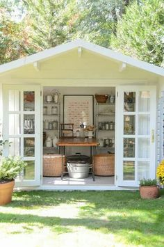 Are you planing make some a backyard shed? Here we present it to you 50 Best Stunning Backyard Storage Shed Design and Decor Ideas. Backyard Storage Sheds, Backyard Sheds, Outdoor Sheds, Shed Storage, Outdoor Rooms, Outdoor Decor, Garden Sheds, Outdoor Living, Outdoor Play