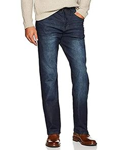 Lucky Brand Men's 181 Relaxed Straight Jean at Amazon Men's Clothing store Ripped Jeans Men, Cut Jeans, Denim Jeans, Top Clothing Brands, Mens Clothing Styles, Tall Men Fashion, Men's Fashion, Type Of Pants, Stretch Jeans